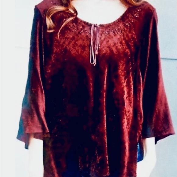 Angie Tops - Angie velvet beaded top S
